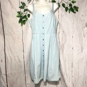 OLD NAVY SLEEVELESS DENIM BOTTOM DOWN DRESS SIZE M